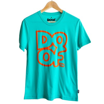 Doof Tee - Outline (Teal)