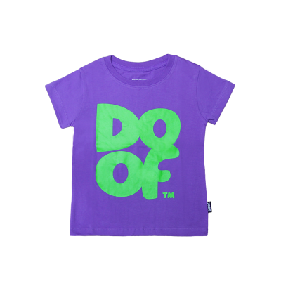 Doof Kids Tee - Coloured (Purple+Green)