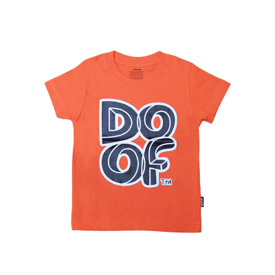 Doof Kids Tee - Maze (Orange)