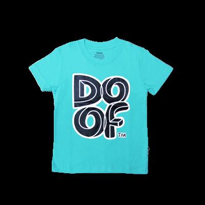 Doof Kids Tee - Maze (Teal)