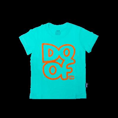 Doof Kids Tee - Outline (Teal)