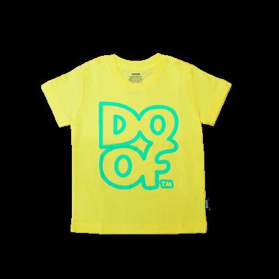 Doof Kids Tee - Outline (Yellow)