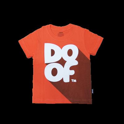 Doof Kids Tee - Classic Shadow (Orange)