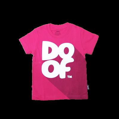 Doof Kids Tee - Classic Shadow (Pink)