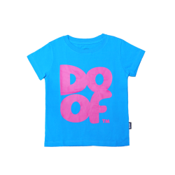 Doof Kids Tee - Coloured (Cyan+Pink)