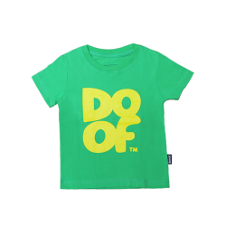 Doof Kids Tee - Coloured (Green+Yellow)