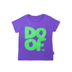 Doof Kids Tee - Coloured (Purple+Green)