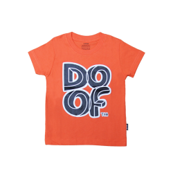 Doof Kids Tee - Maze (Orange)