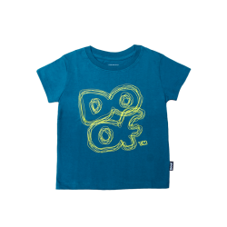 Doof Kids Tee - Scribbled (Dark Teal)