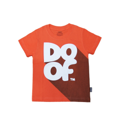 Doof Kids Tee - Classic Shadow (Orange)