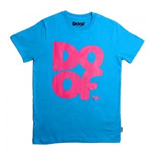 Doof Tee - Coloured (Cyan+Pink)