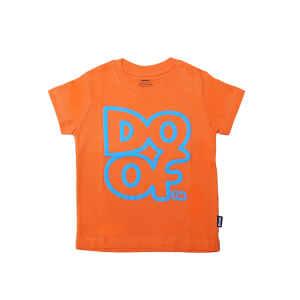 Doof Kids Tee - Outline (Orange)