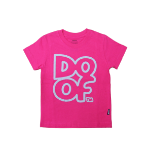 Doof Kids Tee - Outline (Pink)