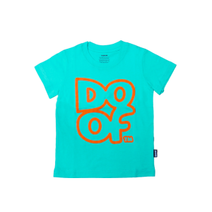 Doof Kids Tee - Outline (Teal)