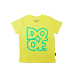 Doof Kids Tee - Outline (Yellow)